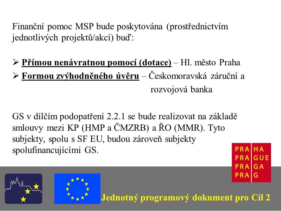 Vybraná území (pro dílčí opatření 2.2.1) (Podle Rozhodnutí EK č.
