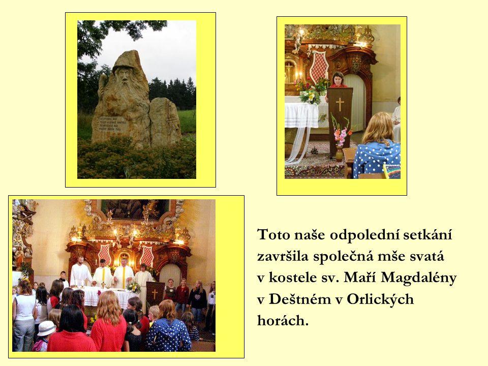 Toto naše odpolední setkání završila společná mše svatá v kostele sv.