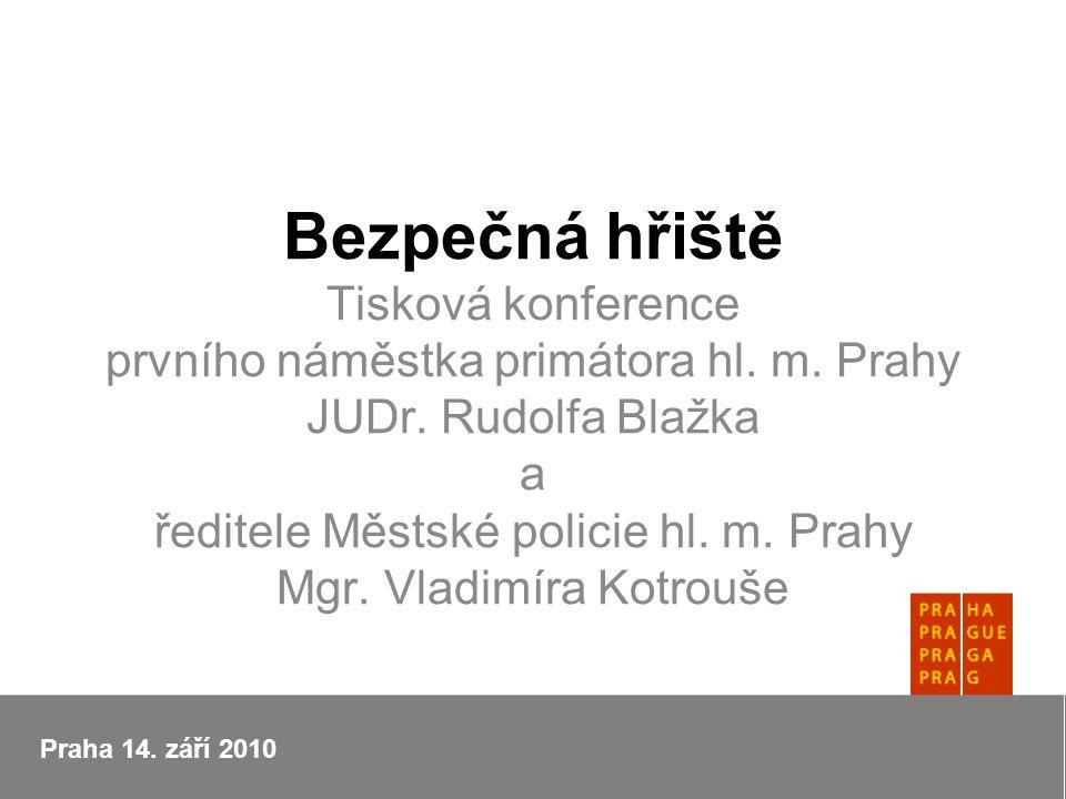 Bezpečná hřiště Tisková konference prvního náměstka primátora hl.