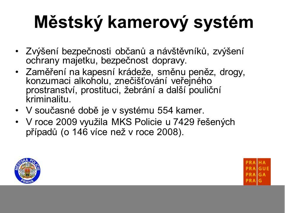 Městský kamerový systém Zvýšení bezpečnosti občanů a návštěvníků, zvýšení ochrany majetku, bezpečnost dopravy.