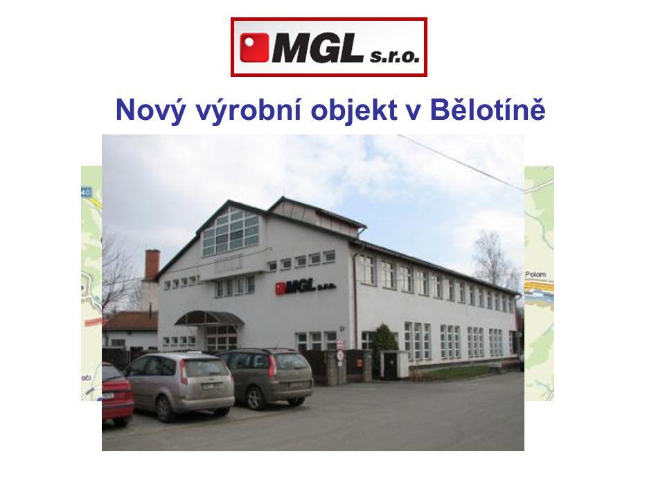 Nový výrobní objekt v Bělotíně