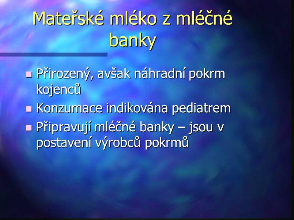 Mléčné banky v Evropě a ve světě n Velká Británie, Francie, Itálie - národní asociace mléčných bank n Mléčné banky četné ve Skandinávii n USA – Asociace mléčných bank