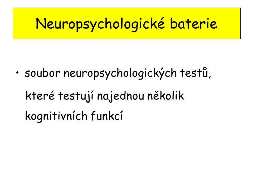 Neuropsychologické baterie soubor neuropsychologických testů, které testují najednou několik kognitivních funkcí