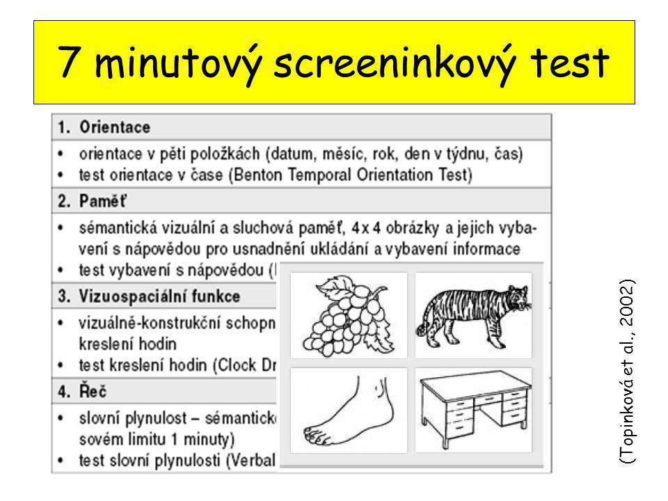 7 minutový screeninkový test (Topinková et al., 2002)
