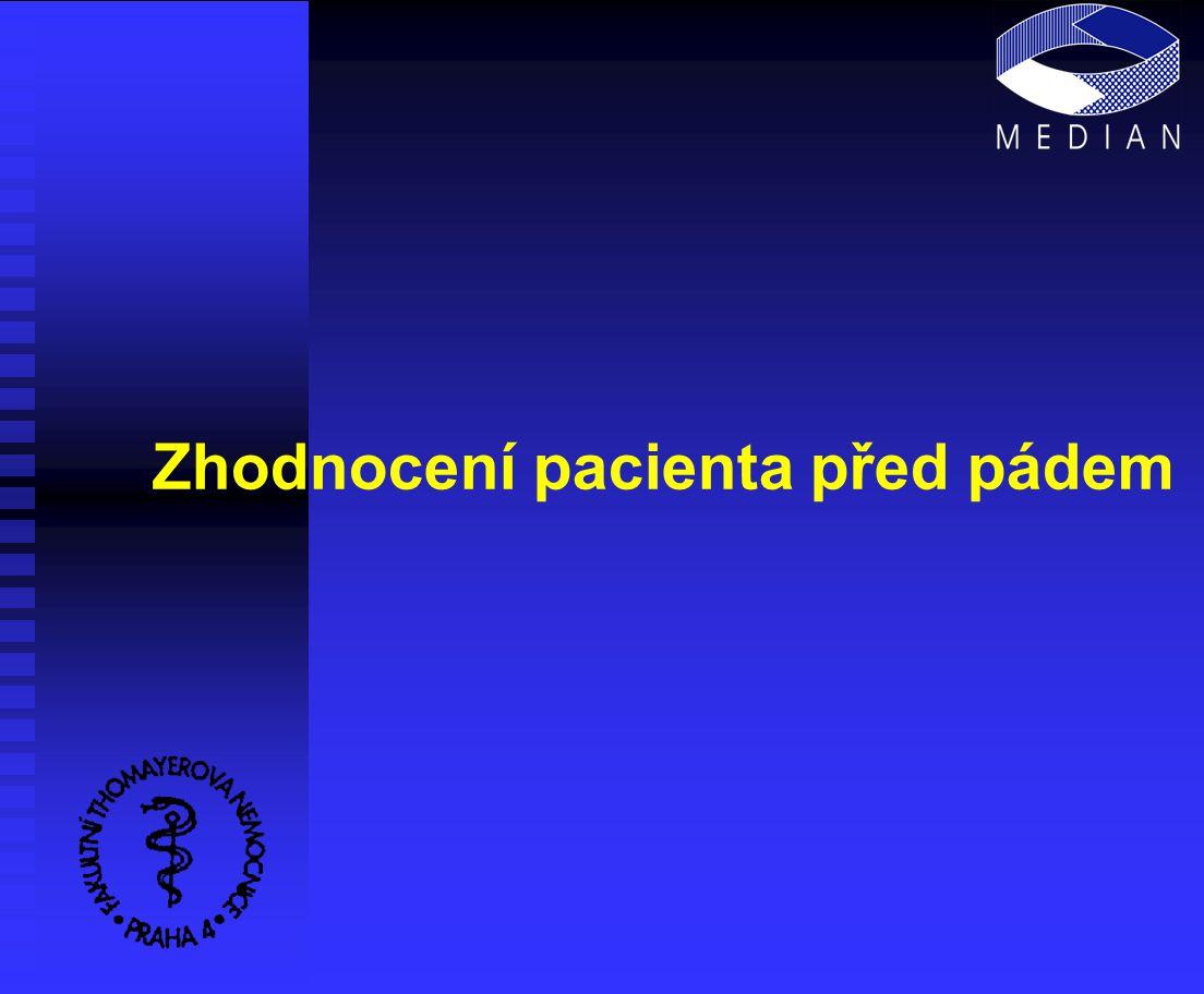 Zhodnocení pacienta před pádem
