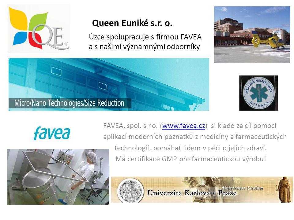 Queen Euniké s.r. o. Úzce spolupracuje s firmou FAVEA a s našimi významnými odborníky FAVEA, spol. s r.o. (www.favea.cz) si klade za cíl pomocíwww.fav