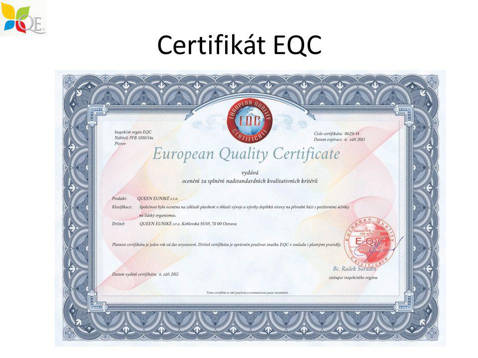 Certifikát EQC
