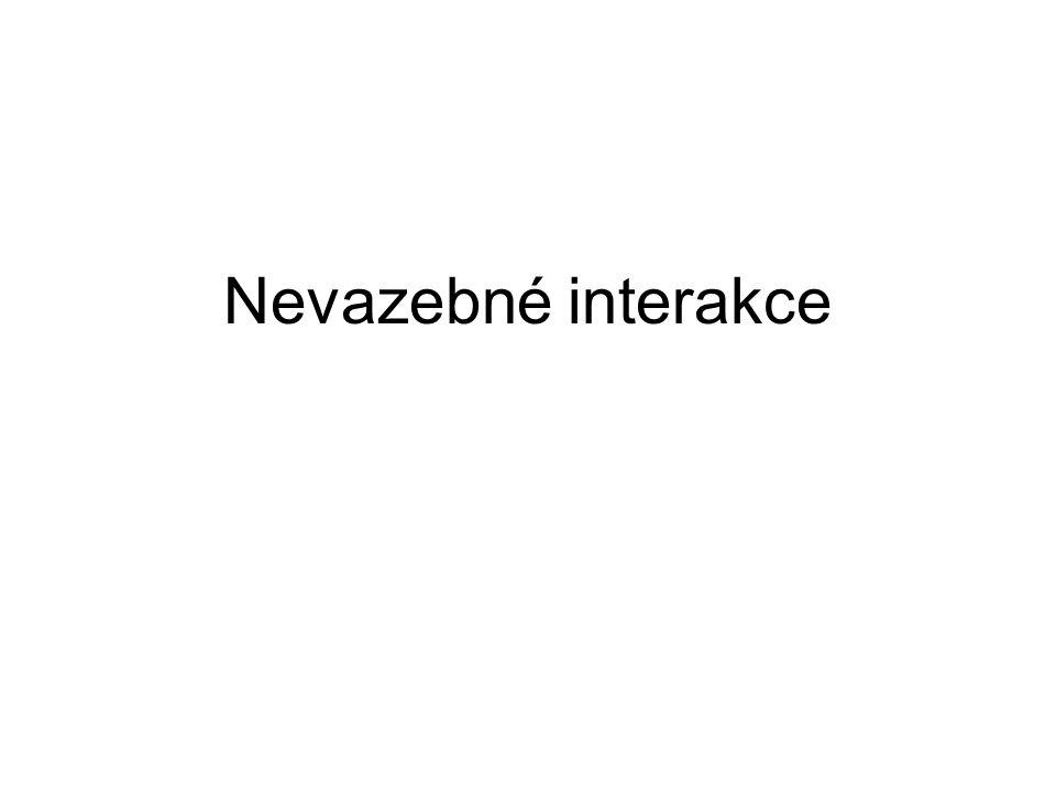 van der Waalsovy interakce atomy vzácných plynů spolu interagují, ačkoliv nemají žádné náboje A.
