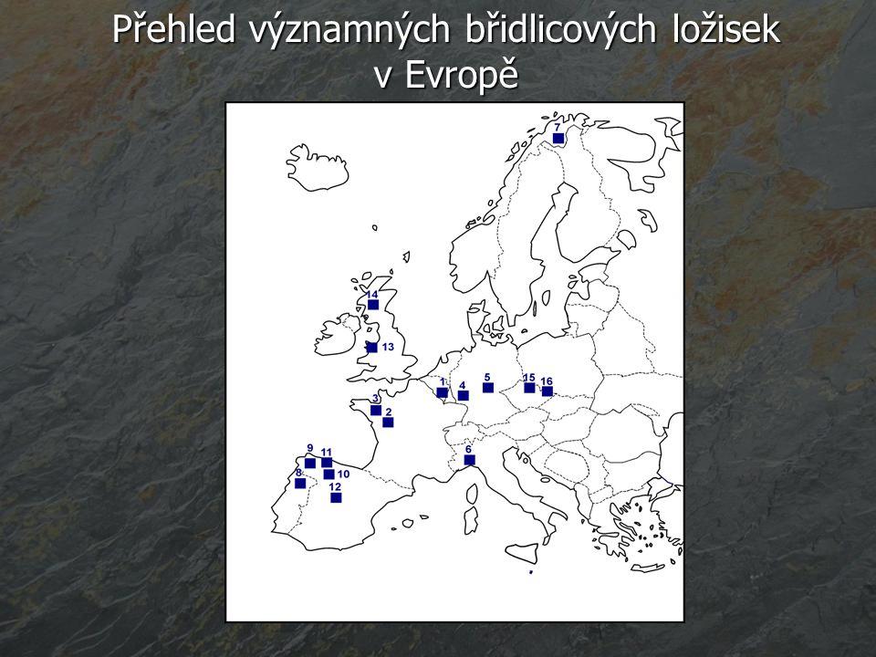 Přehled významných břidlicových ložisek v Evropě