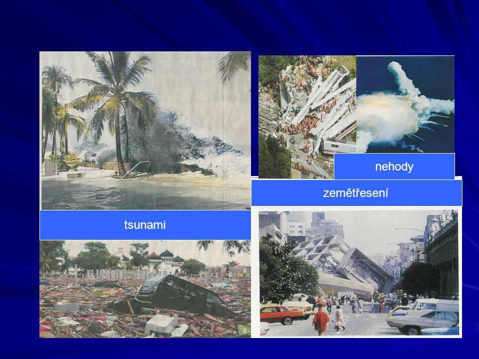 zemětřesení nehody tsunami
