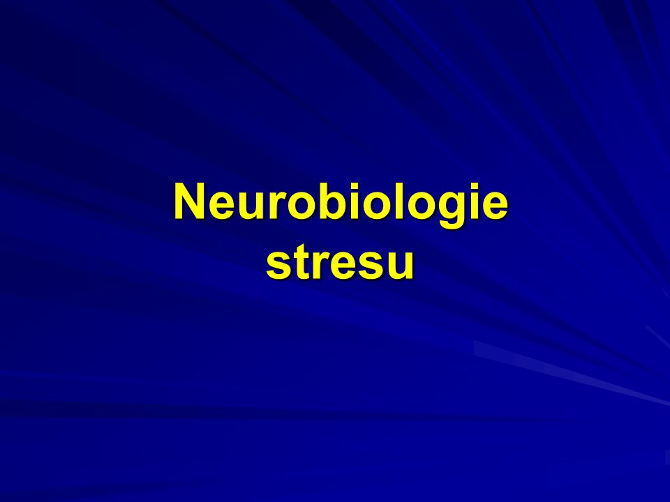 Stres Stresová reakce je fylogeneticky zakódovaná neuro- humorální a metabolicko-funkční příprava organismu na boj nebo útěk Stresová reakce je výraznější odchylka od normálu - skutečné nebo domnělé narušení integrity organismu.
