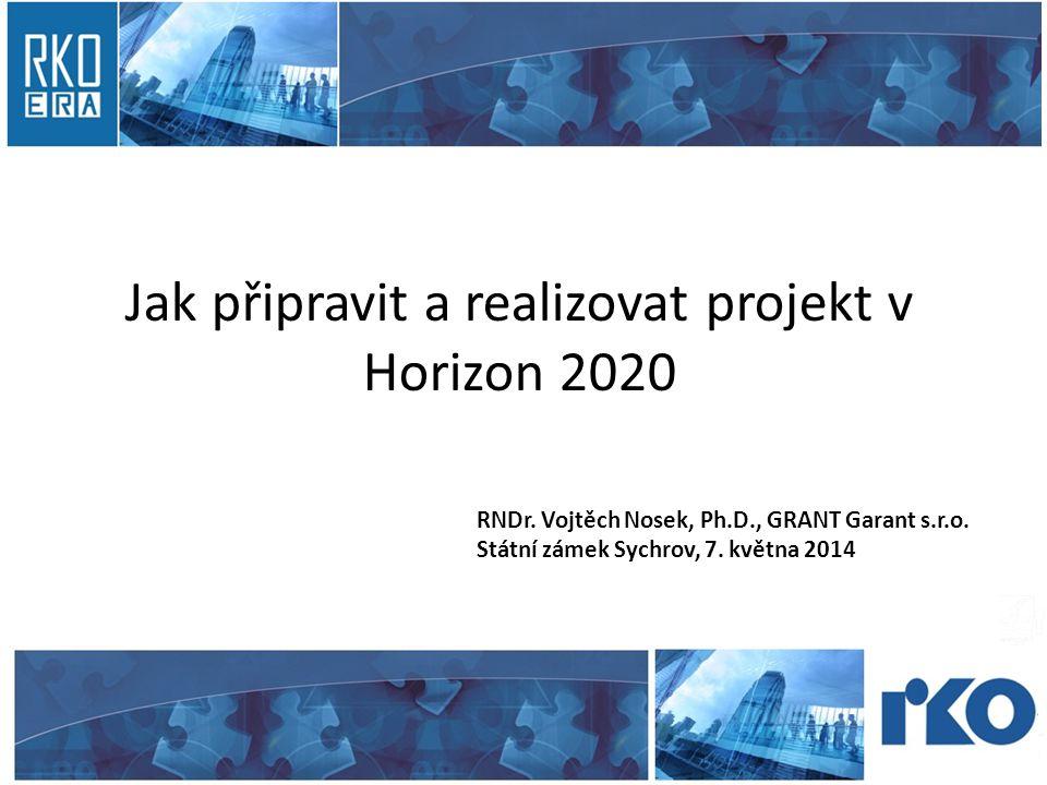 Jak připravit a realizovat projekt v Horizon 2020 RNDr.