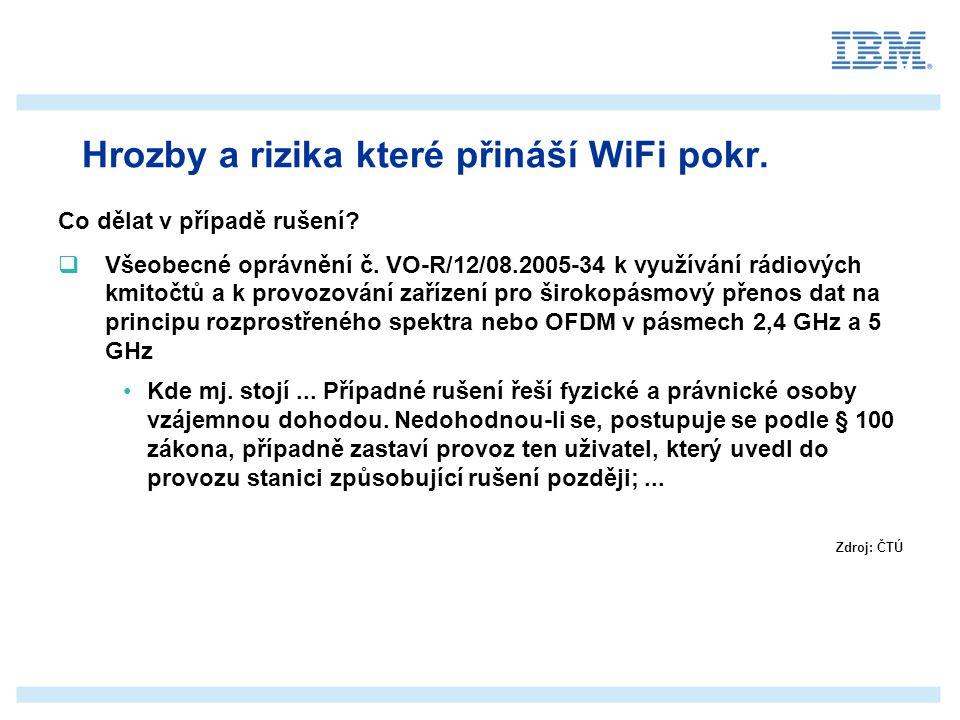 _______________ __________ _____ ____ Mastertextformat bearbeiten Zweite Ebene Dritte Ebene Vierte Ebene Fünfte Ebene Agenda  Úvod do bezdrátových sítí  Vybrané základní pojmy v oblasti WiFi  Hrozby a rizika které přináší WiFi  Pravidla a mechanizmy zabezpečení WiFi sítě  Architektura WiFi založená na platformě Cisco  Koncept návrhu WiFi sítě  Diskuse