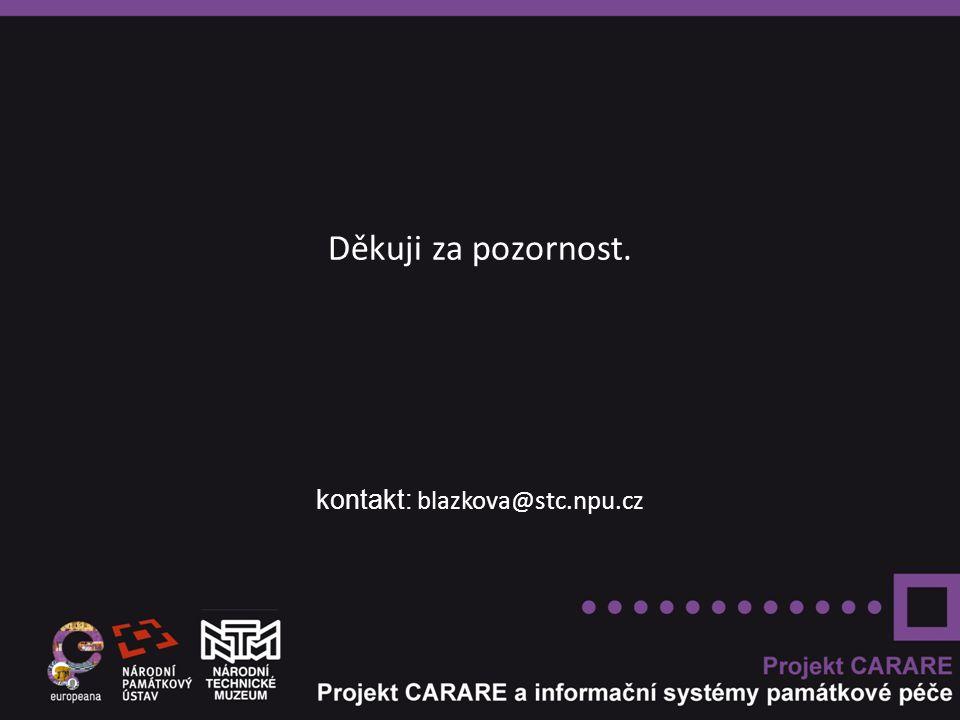 Děkuji za pozornost. kontakt: blazkova@stc.npu.cz