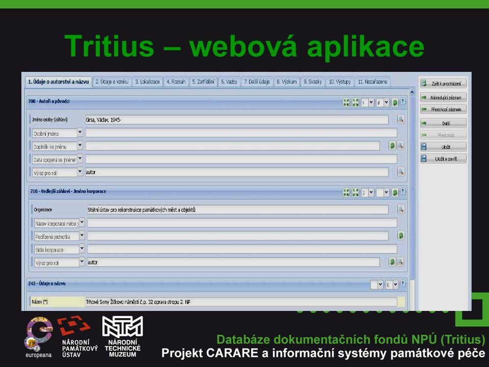 Tritius – webová aplikace