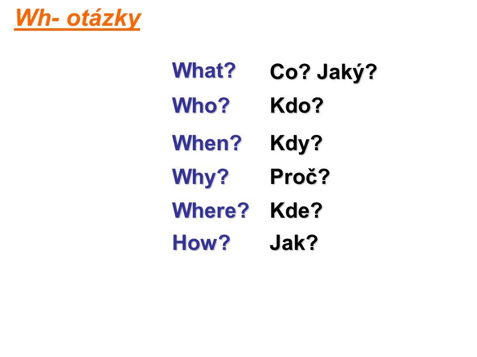 What Who Why When Where Kdo Co Jaký Proč Kdy Kde How Jak