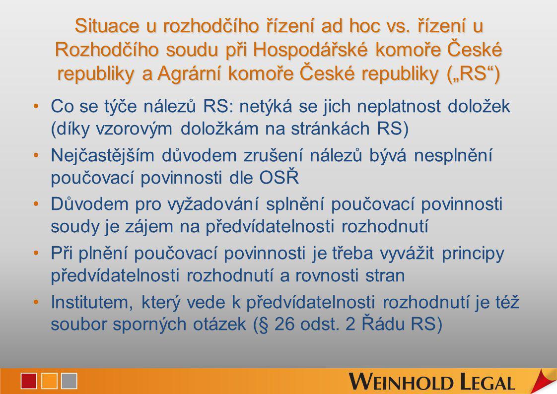 Děkuji za pozornost.Weinhold Legal v.o.s. Karlovo nam.