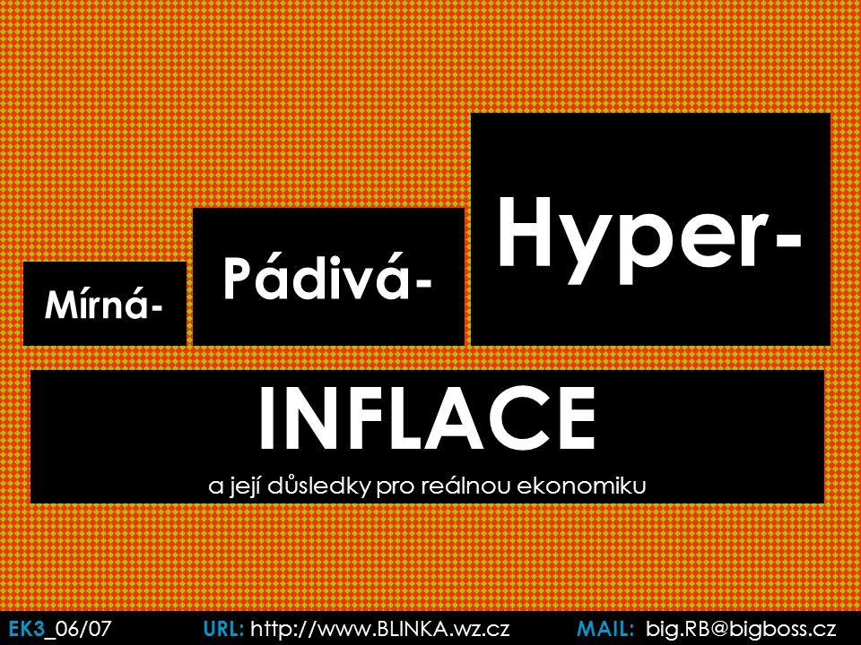 EK3 _06/07 URL: http://www.BLINKA.wz.cz MAIL: big.RB@bigboss.cz Mírná- INFLACE a její důsledky pro reálnou ekonomiku Pádivá- Hyper-