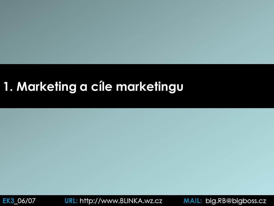 EK3 _06/07 URL: http://www.BLINKA.wz.cz MAIL: big.RB@bigboss.cz 1. Marketing a cíle marketingu
