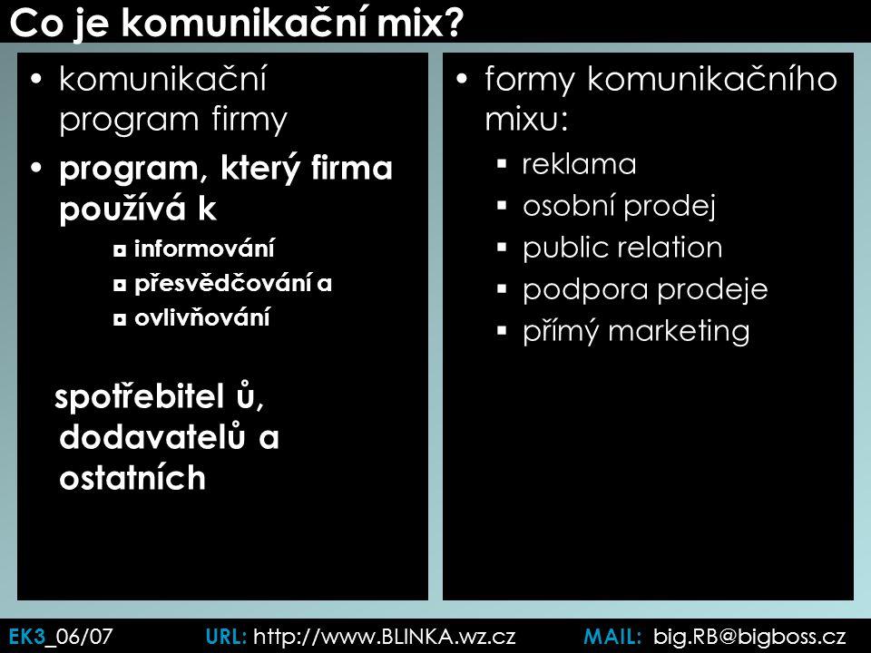 Co je komunikační mix.