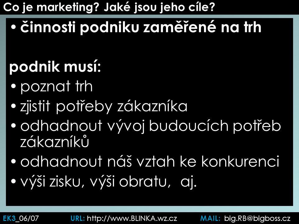 EK3 _06/07 URL: http://www.BLINKA.wz.cz MAIL: big.RB@bigboss.cz Co je marketing.