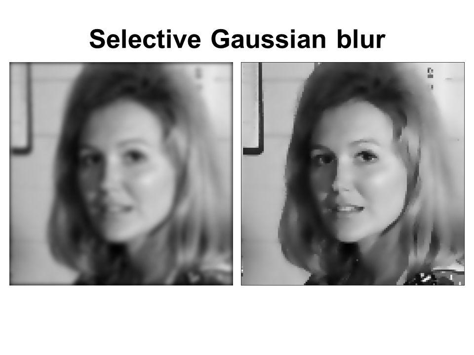 Selective Gaussian blur