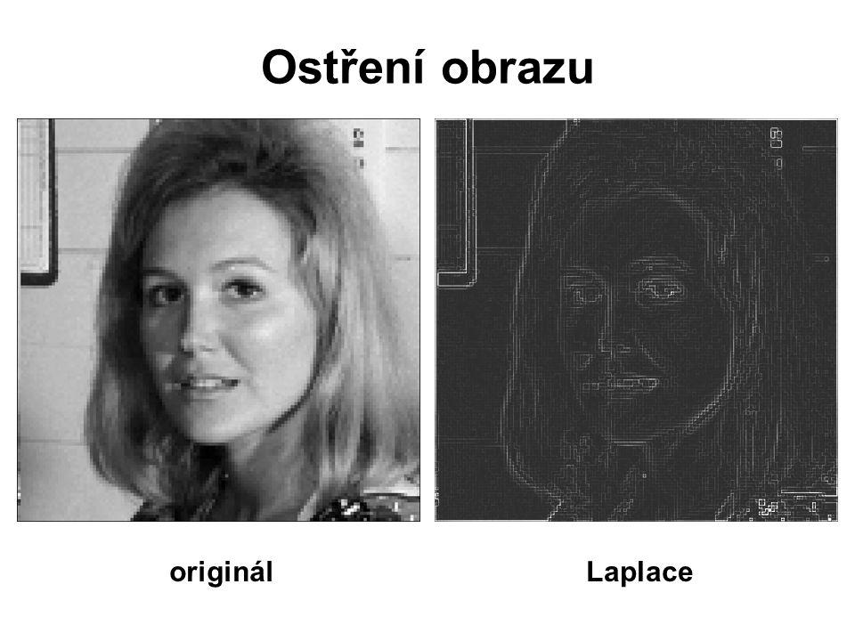 Ostření obrazu originálLaplace