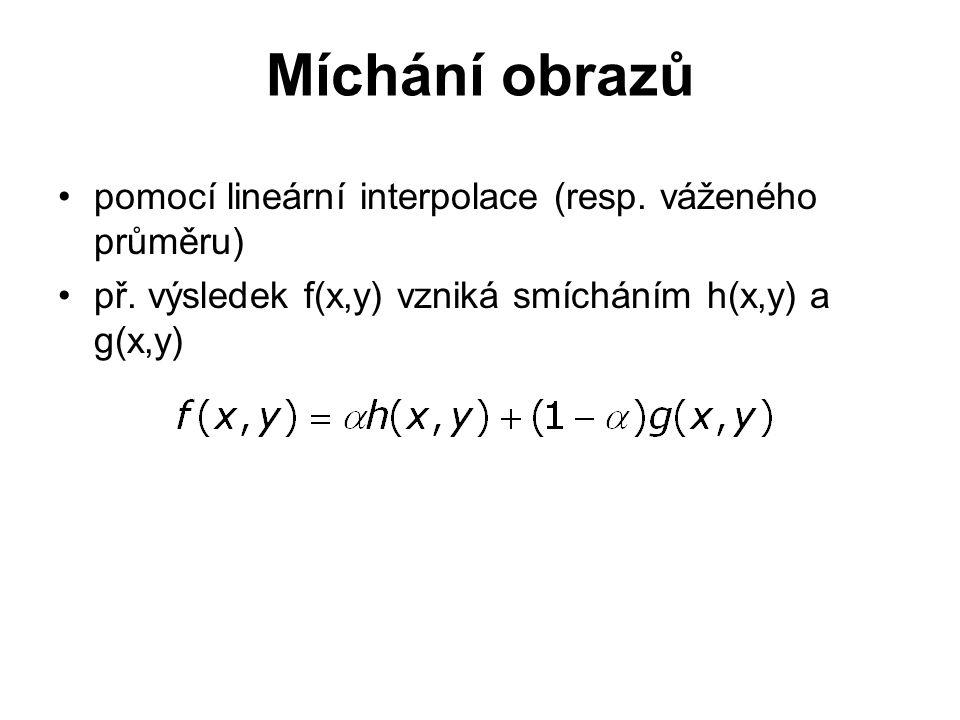 pomocí lineární interpolace (resp. váženého průměru) př.