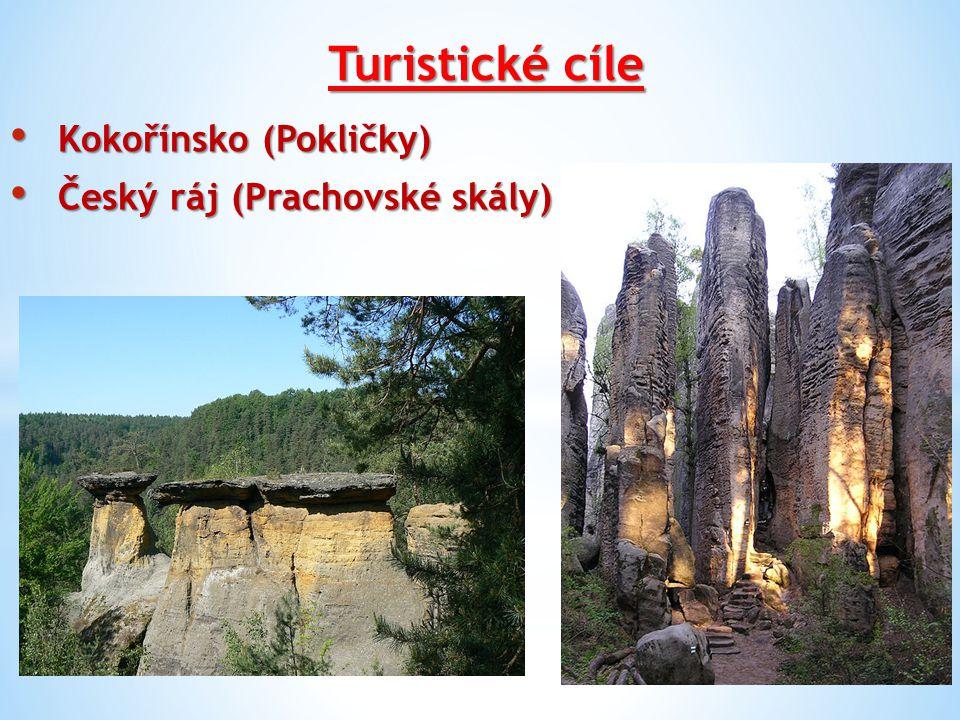 Turistické cíle Kokořínsko (Pokličky) Kokořínsko (Pokličky) Český ráj (Prachovské skály) Český ráj (Prachovské skály)