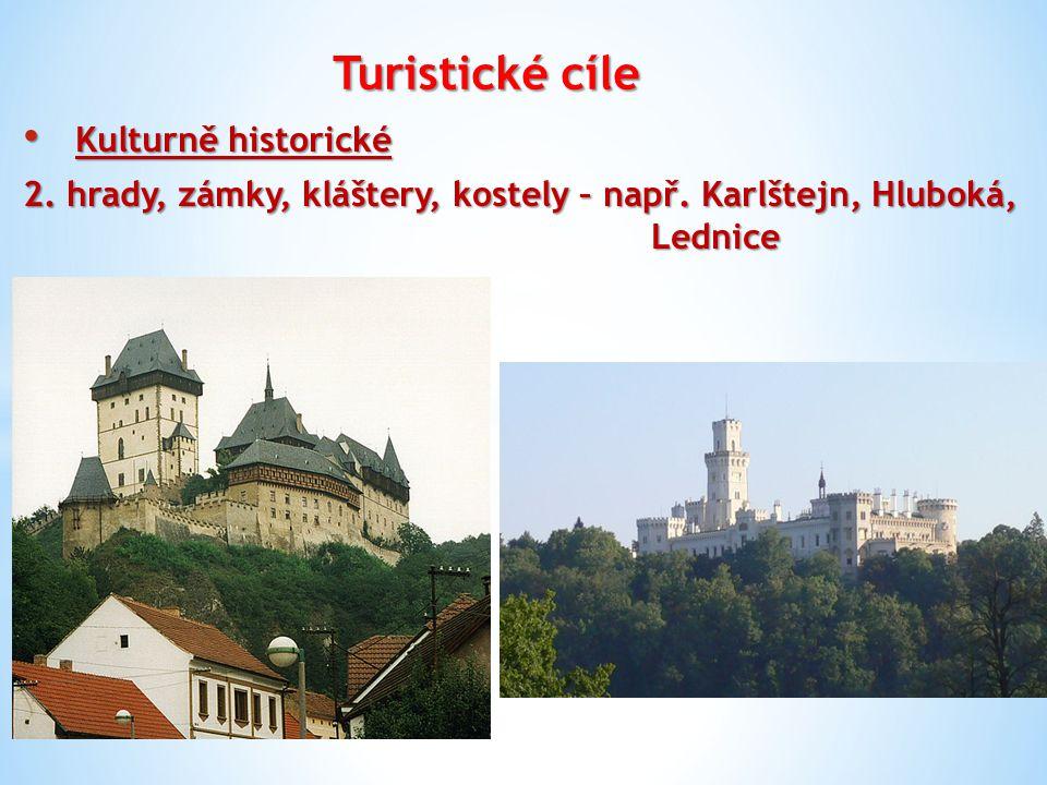 Turistické cíle Kulturně historické Kulturně historické 3.