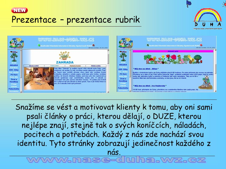 Prezentace – prezentace rubrik...