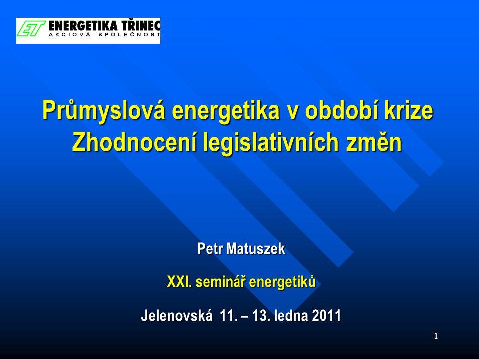 2 Obsah  Postavení průmyslové energetiky  Trh s elektřinou  Ekologické a jiné balíčky  Závěr