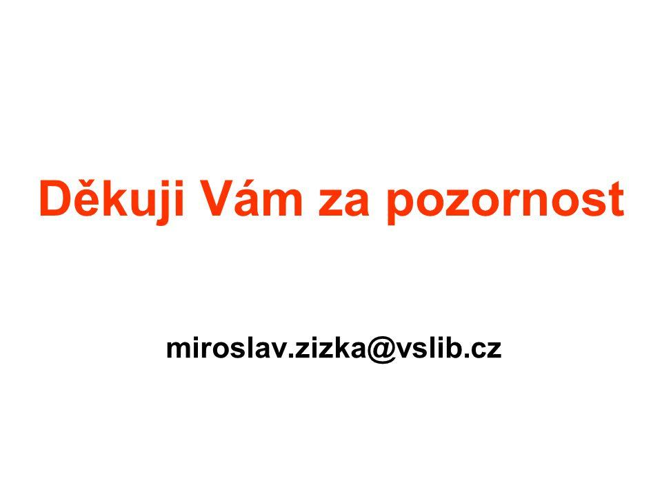 Děkuji Vám za pozornost miroslav.zizka@vslib.cz