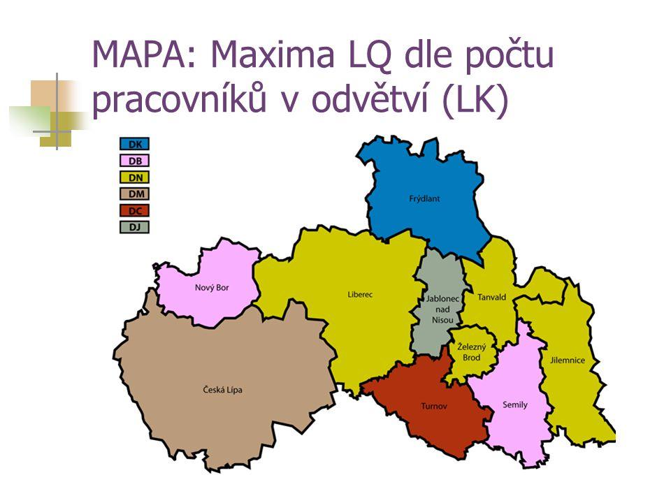 MAPA: Maxima LQ dle počtu pracovníků v odvětví (LK)