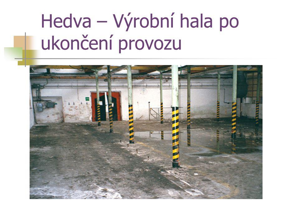 Hedva – Výrobní hala po ukončení provozu