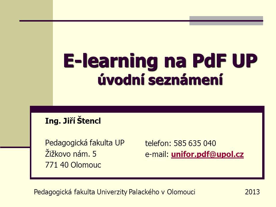 Obsah prezentace stručný úvod do distančního vzdělávání a e-learningu seznámení se studijním informačním systémem LMS Unifor Upozornění: Tato prezentace není, nechce a ani nemůže být vyčerpávajícím popisem problematiky e-learningu.