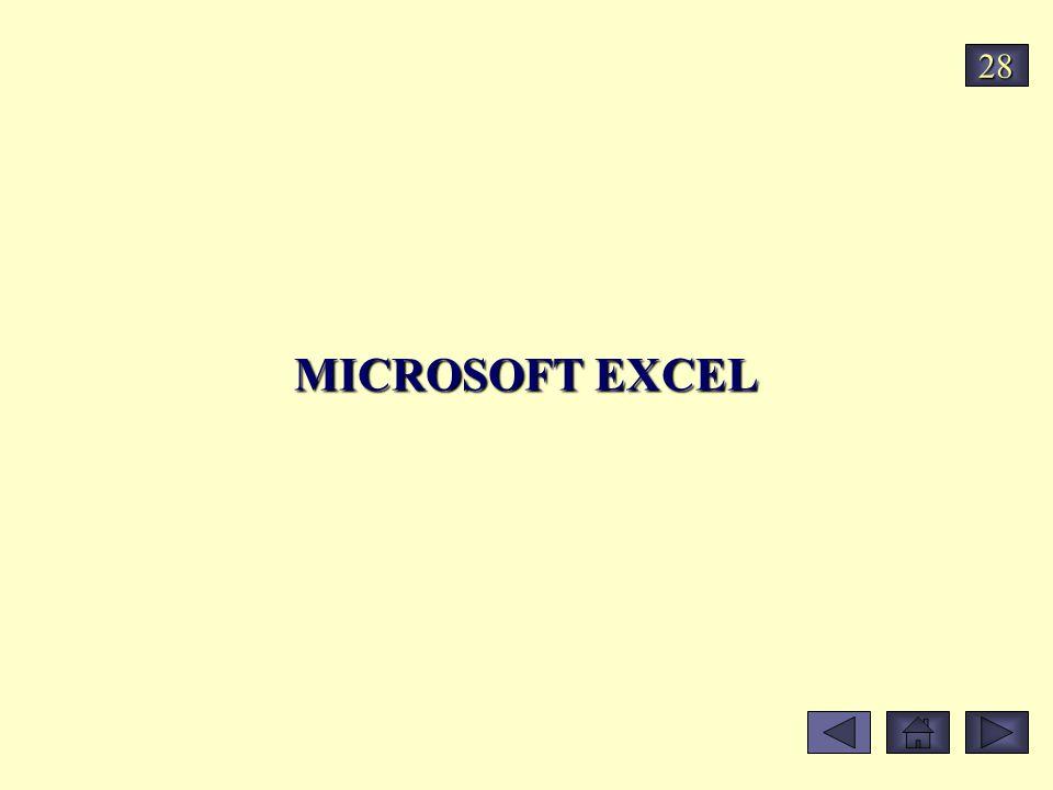 MICROSOFT EXCEL 28