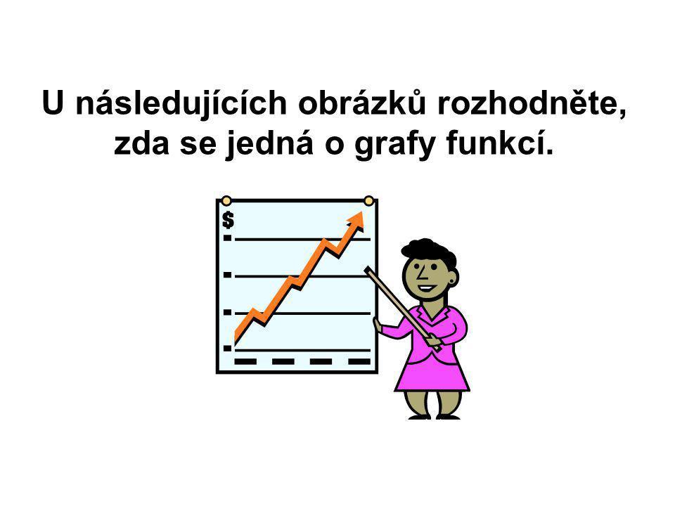 U následujících obrázků rozhodněte, zda se jedná o grafy funkcí.