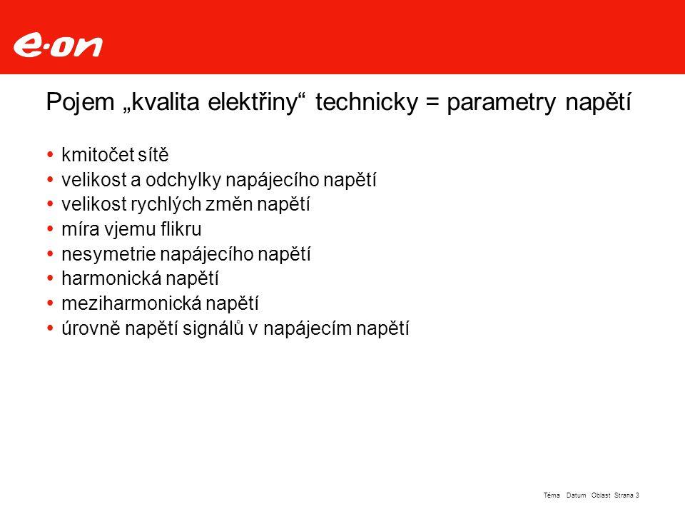 Strana 4Téma Datum Oblast Kvalita elektřiny legislativně - Vyhláška 540/2005 Sb.