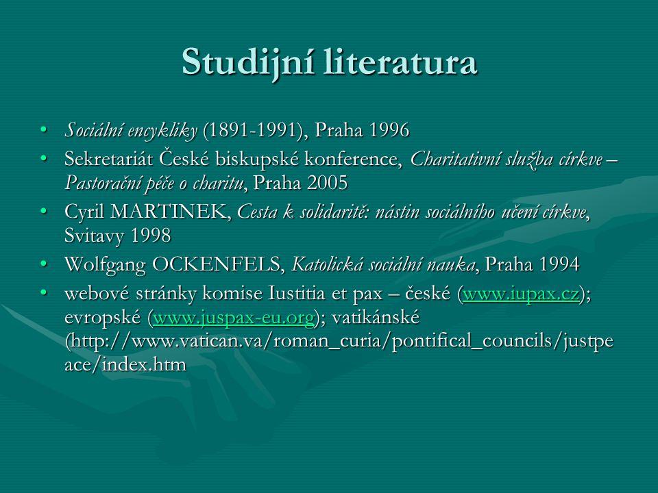 Studijní literatura Sociální encykliky (1891-1991), Praha 1996Sociální encykliky (1891-1991), Praha 1996 Sekretariát České biskupské konference, Chari