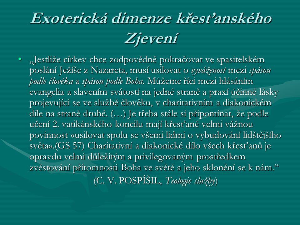 """Exoterická dimenze křesťanského Zjevení """"Jestliže církev chce zodpovědně pokračovat ve spasitelském poslání Ježíše z Nazareta, musí usilovat o vyvážen"""