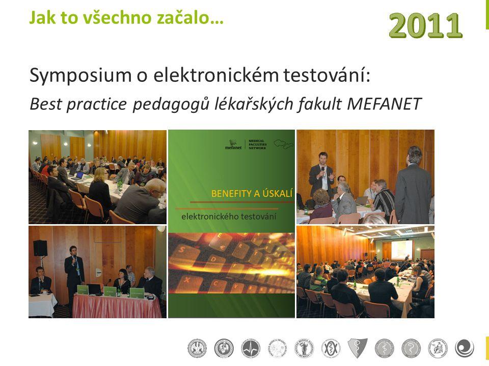 Jak to všechno začalo… Symposium o elektronickém testování: Best practice pedagogů lékařských fakult MEFANET
