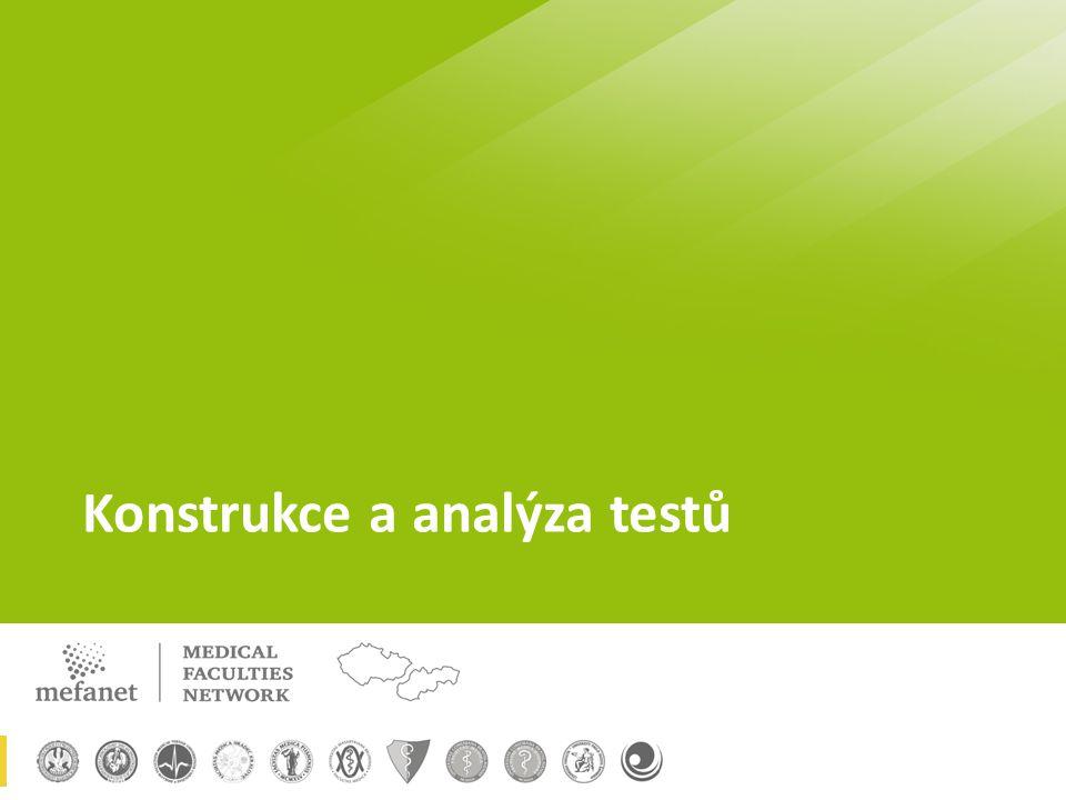 Konstrukce a analýza testů