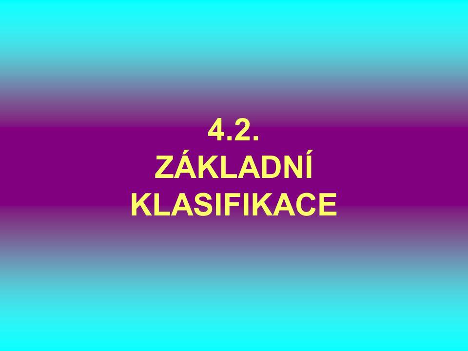 4.2. ZÁKLADNÍ KLASIFIKACE