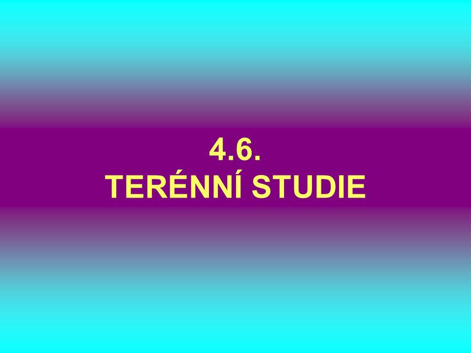 4.6. TERÉNNÍ STUDIE