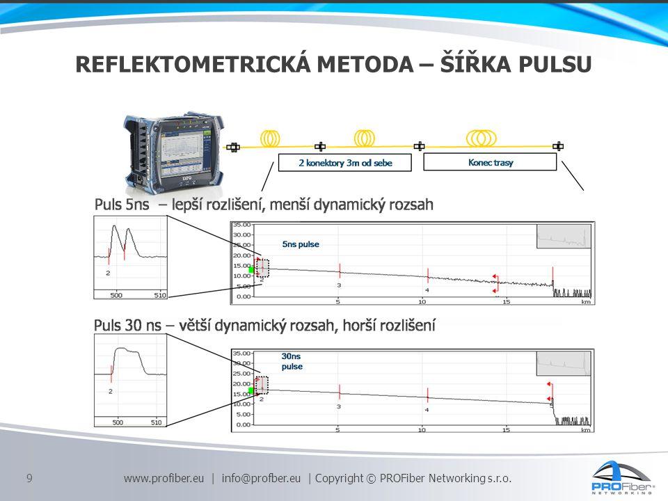 průměrný útlum svaru 0,02 - 0,06 dB rozdíl útlumu svaru na různých (A 1550 - A 1310 ) 0,01 - 0,02 dB útlum svaru 0,1 dB útlum konektorového spojení v trase 0,5 dB měrný útlum kabel.