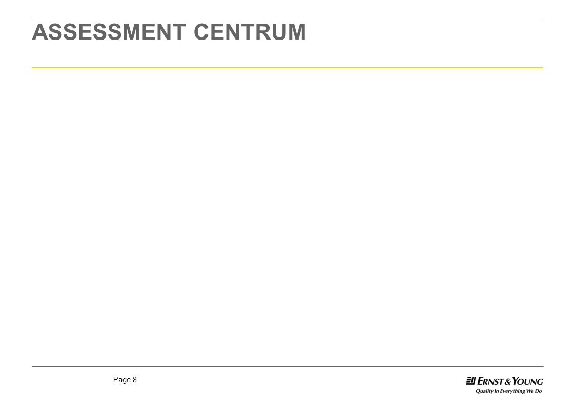 Page 8 ASSESSMENT CENTRUM