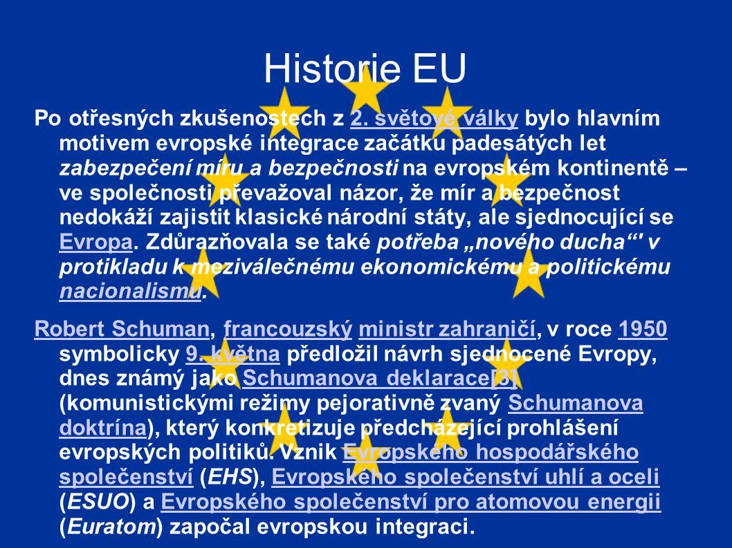 Historie EU Po otřesných zkušenostech z 2.
