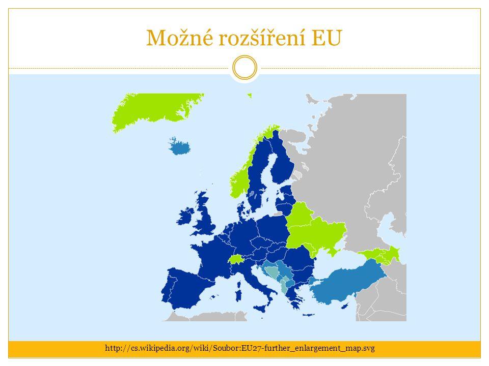 Možné rozšíření EU http://cs.wikipedia.org/wiki/Soubor:EU27-further_enlargement_map.svg