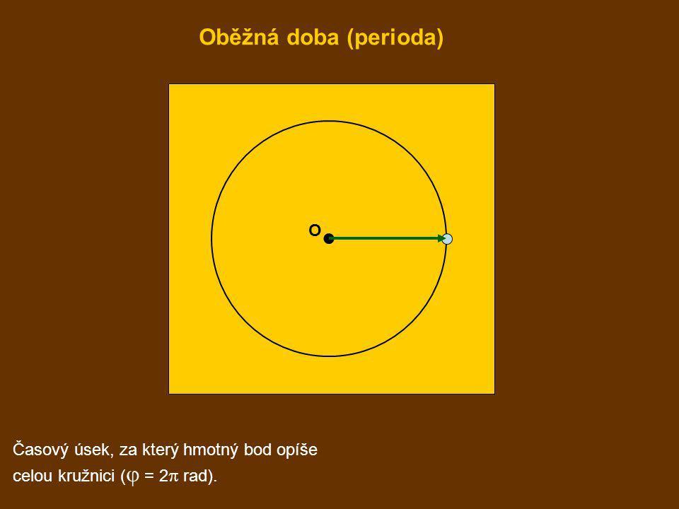 O Časový úsek, za který hmotný bod opíše celou kružnici (  = 2  rad). Oběžná doba (perioda)